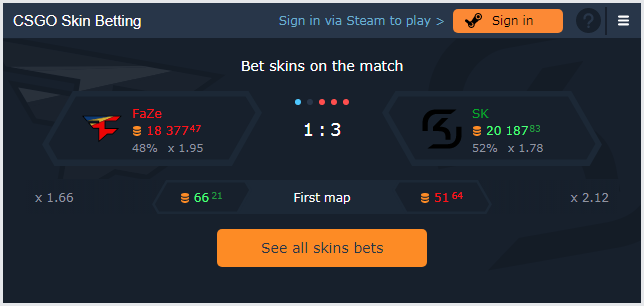 SK Gaming vence Grand Final ESL Pro League CS GO skin bet