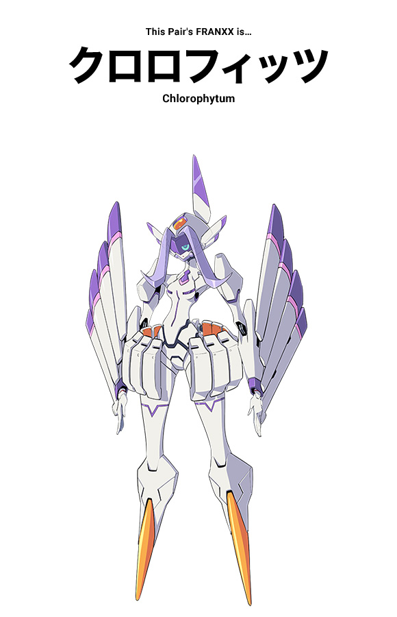 chlorophytum-personagens darling in the franxx