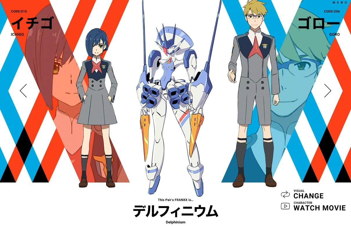 ichigo-goro-personagens darling in the franxx