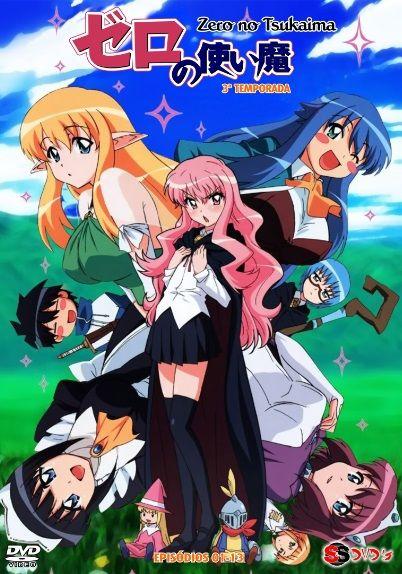 zero-no-tsukaima-top-Animes de comédia romântica