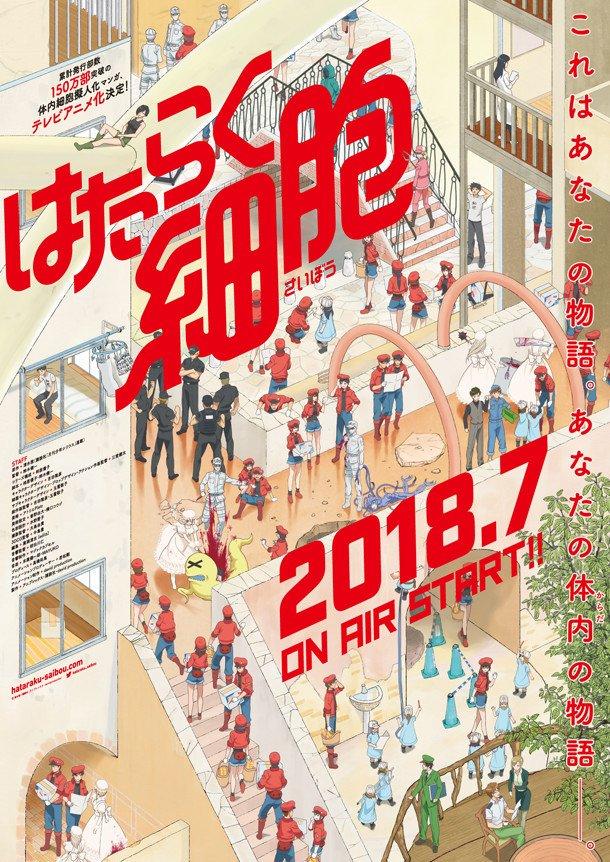 Guia de animes da temporada Julho (Verão) 2018 - hataraku saibou