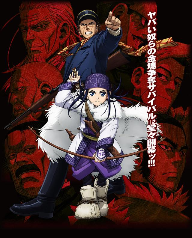 golden kamuy - Top 10 Melhores Animes da Temporada Abril (Primavera) 2018