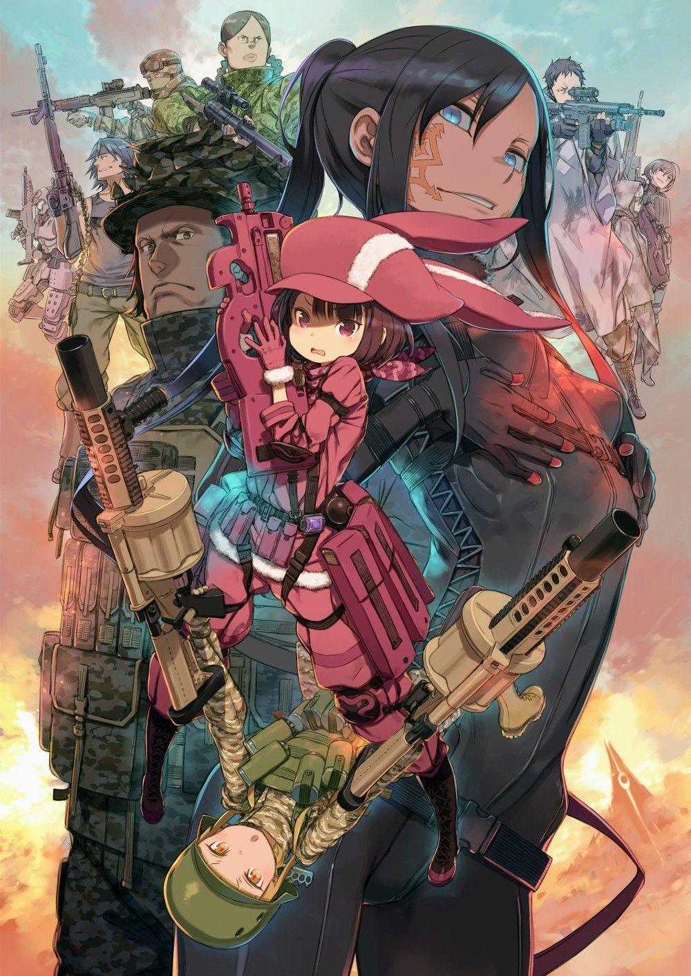 sword art online alternative gun gale poster Top 10 Melhores Animes da Temporada Abril (Primavera) 2018