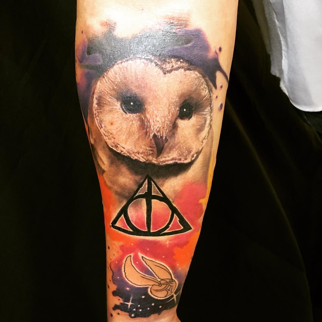 top 10 tatuagens de harry potter