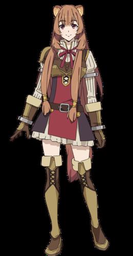 Os personagens de Tate No Yuusha No Nariagari Raphtalia