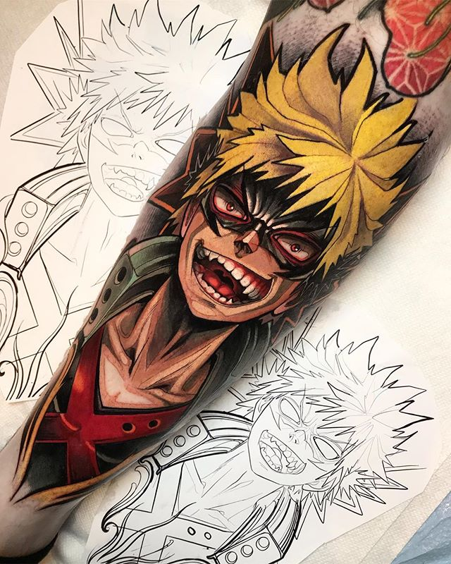 Top 10 Tatuagens de Boku no Hero