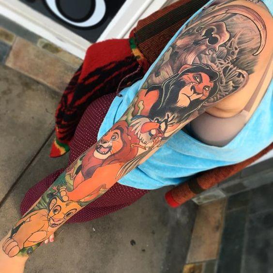 Top 10 Tatuagens de Rei Leão