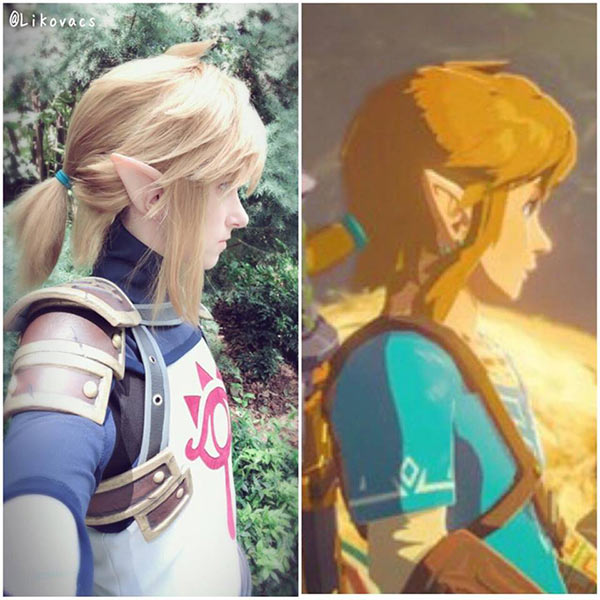 cosplay incrível de Link de Breath of the Wild