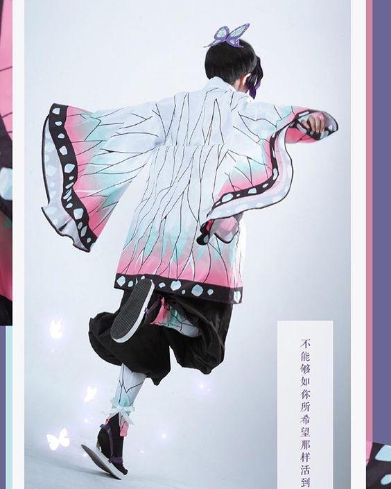 cosplay perfeito de Shinobu Kocho de Demon Slayer