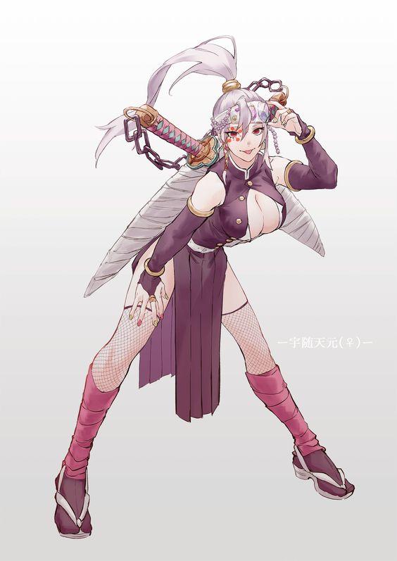 Hashiras de Demon Slayer em versão feminina