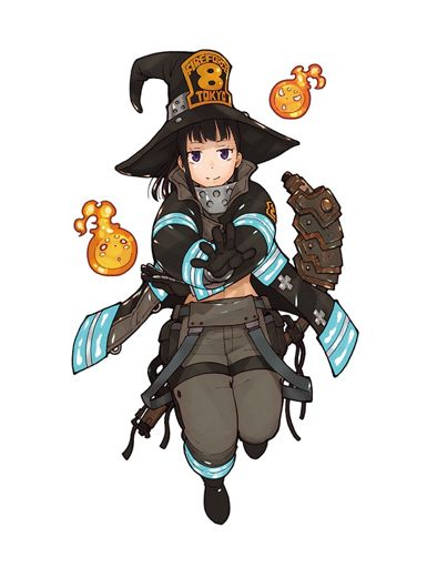 Os Personagens de Fire Force maki oze