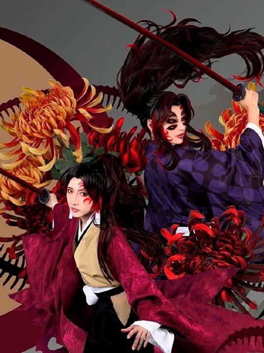 cosplayers de Kokushibou e Yoriichi
