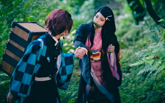 Cosplay de Nezuko e Tanjirou