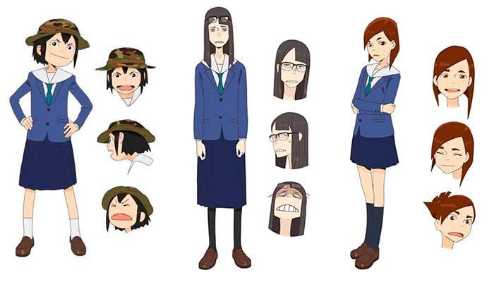 Os Personagens de Eizouken Ni Wa Te O Dasu Na!