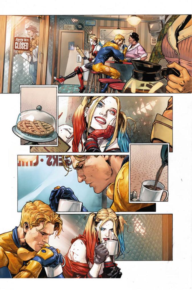 Heróis em Crise (Heroes in Crisis, DC) - Resenha - Arlequina e Gladiador Dourado