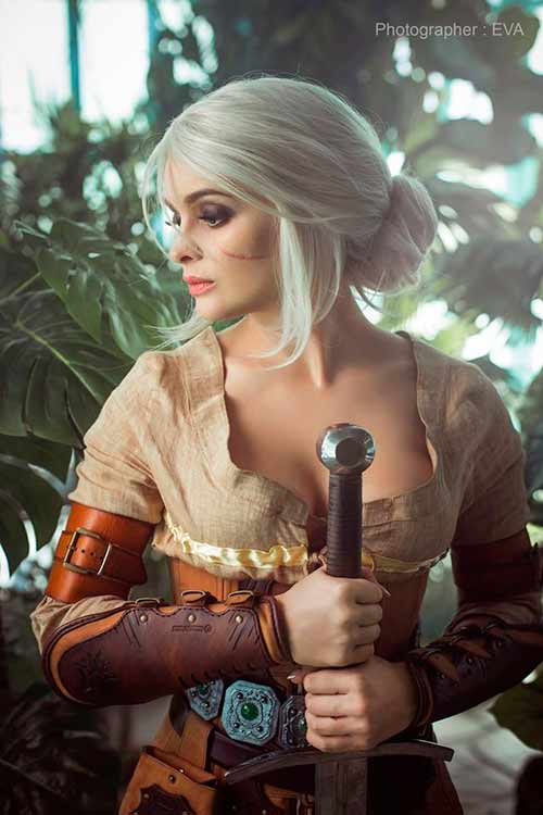 cosplay de Ciri de The Witcher