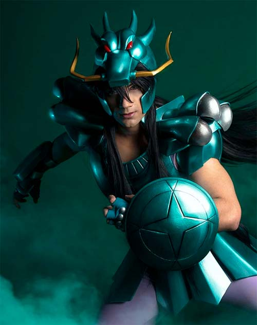 Cosplay de Shiryu de Cavaleiros do Zodíaco