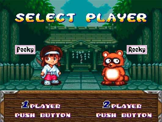 Game Retrô: Pocky & Rocky SNES