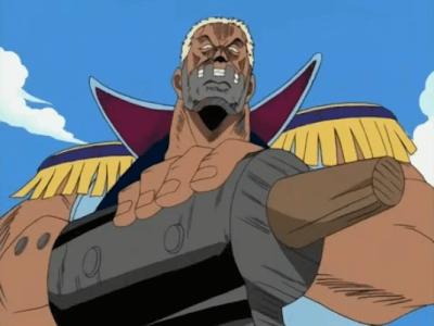 Capitão Morgan, um dos inimigos do arco Romance Dawn.