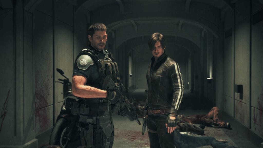 Leon e Chris em Resident Evil - Vendetta