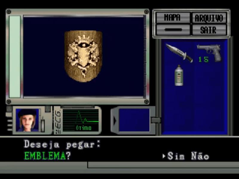 Menu de Resident Evil 1