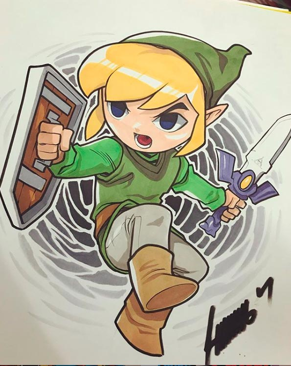 Artistas Nerds: Games e Animes por Edwin Huang