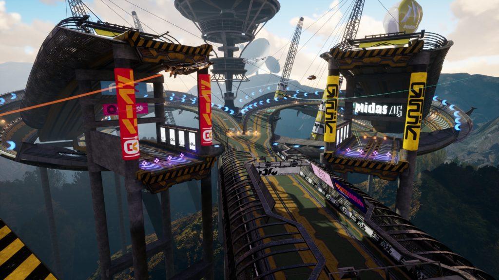 pista de corridas ilustrando os gráficos e design do jogo