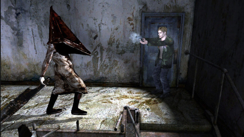 James e o famoso Pyramid Head, apresentado em Silent Hill 2.