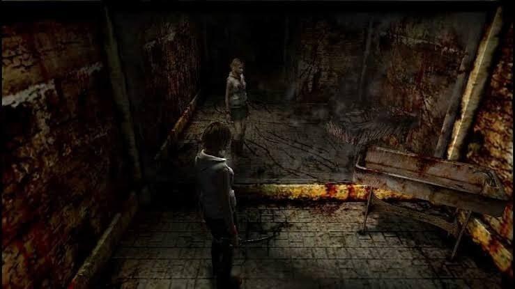 Cena do espelho em Silent Hill 3