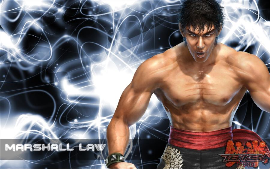 Imagem do personagem Marshall Law, de Tekken