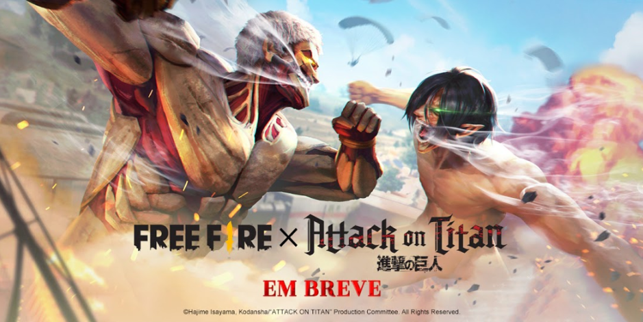 Free Fire anuncia crossover com Attack on Titan