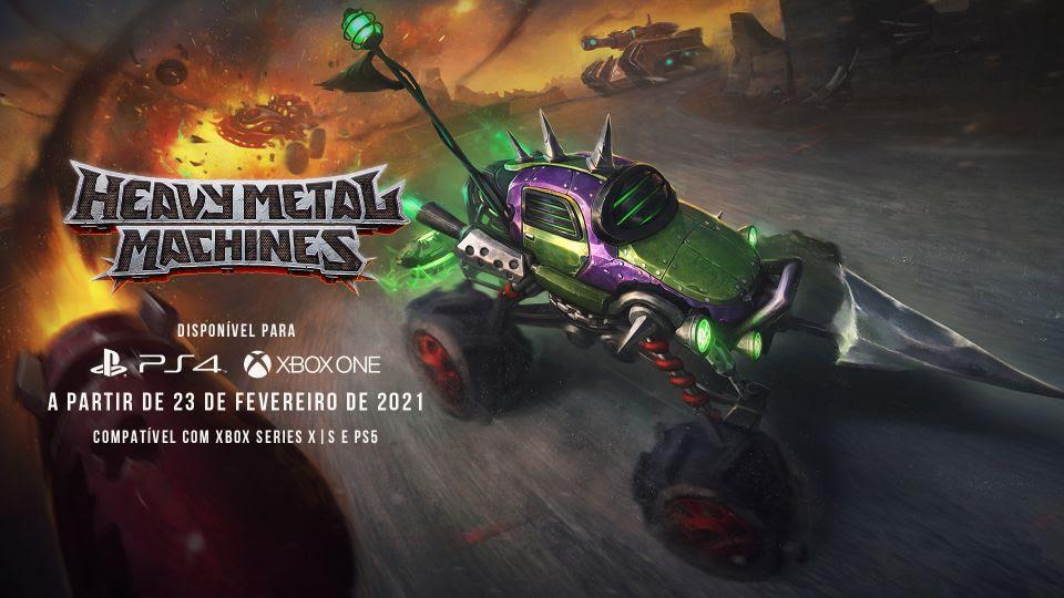Heavy Metal Machines chega nos consoles em 23 de fevereiro