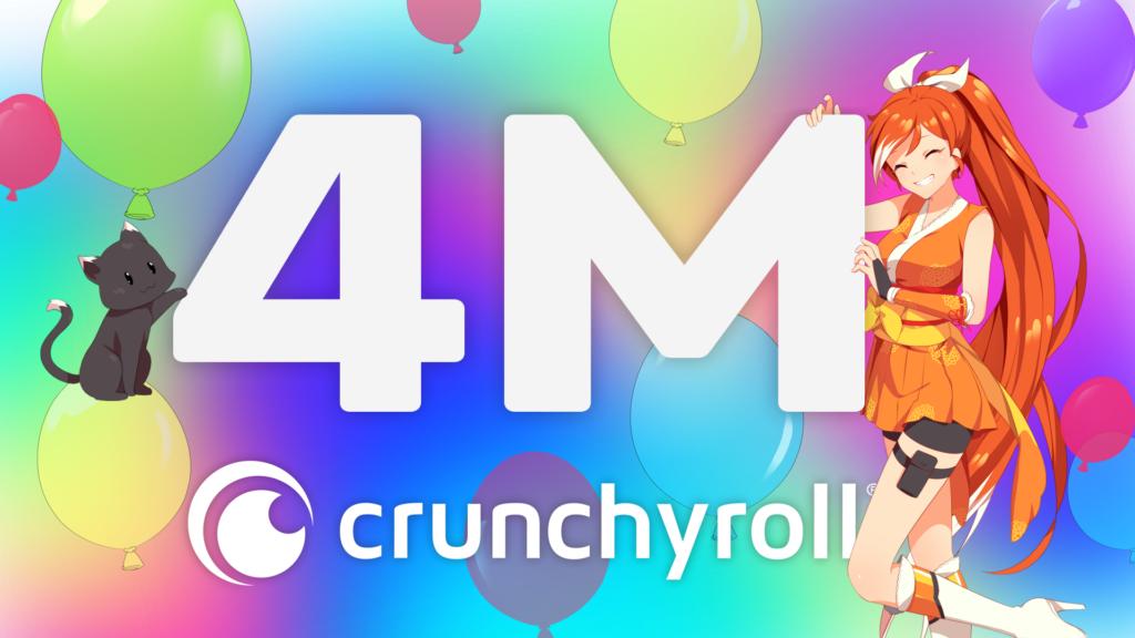 Crunchyroll Atinge 4 Milhões de Assinantes