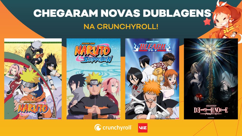 Dublagens chegam na crunchyroll nos animes