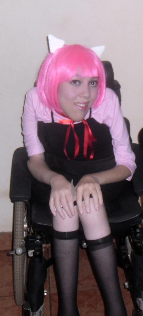 Graziela Maria com o cosplay de Lucy