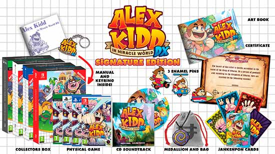 Lançamento de Alex Kidd in Miracle World DX Versão de Colecionador