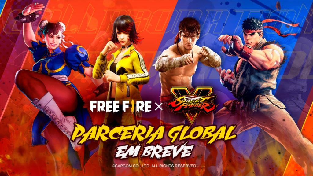 Free Fire dá as boas-vindas a Ryu e Chun-Li de Street Fighter