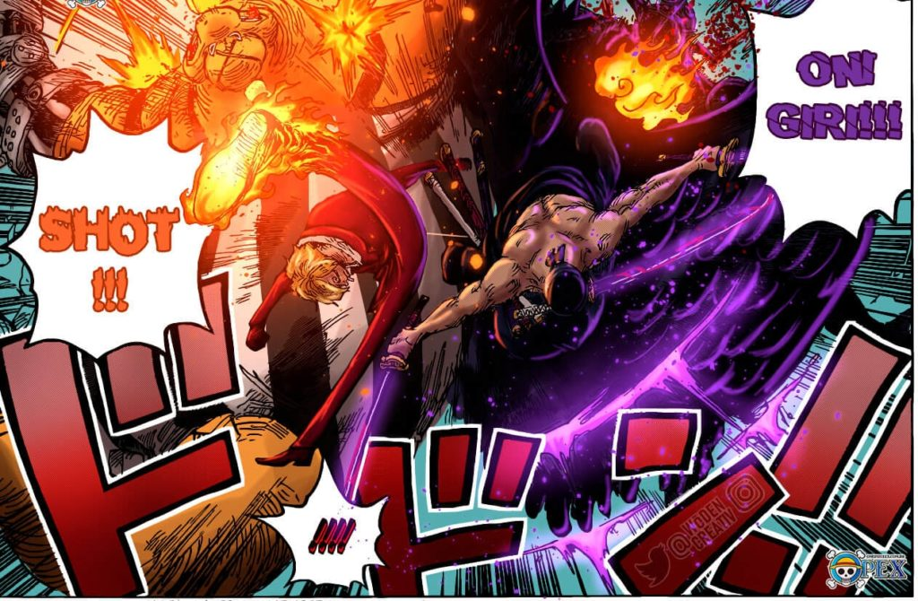 Página final de One Piece 1022