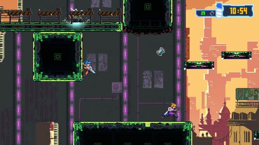 Captura de tela Aeon Drive publicada na Steam