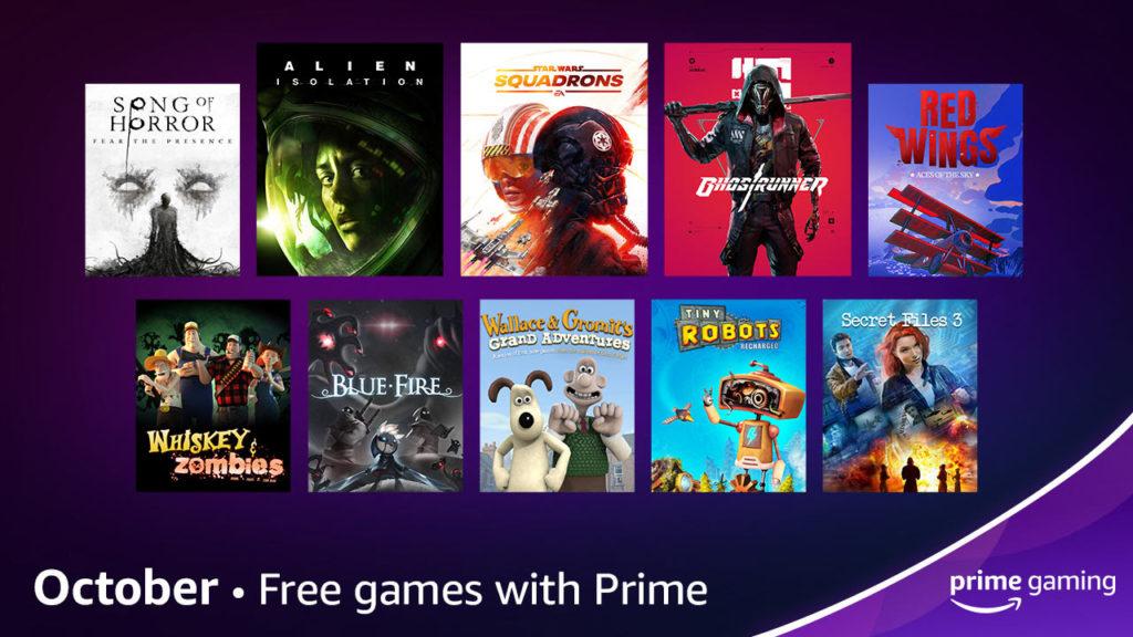 Amazon anuncia Prime Gaming de outubro
